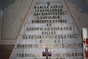 Placa funerară a Arhiducesei Maria de Habsburg