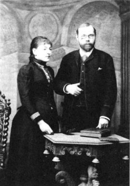 Eduard Silberstein si prima sa sotie, Pauline