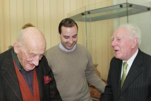 Filip Iorga împreună cu istoricul Neagu Djuvara și istoricul francez Jean Delumeau